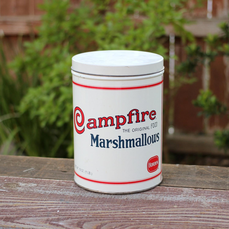 Vintage Marshmallow Tin - Campfire Brand