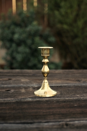 """BARLUME"" - Brass Taper Candlestick Qty Available - 1   RENT FOR $5    MORE DETAILS & PICS..."