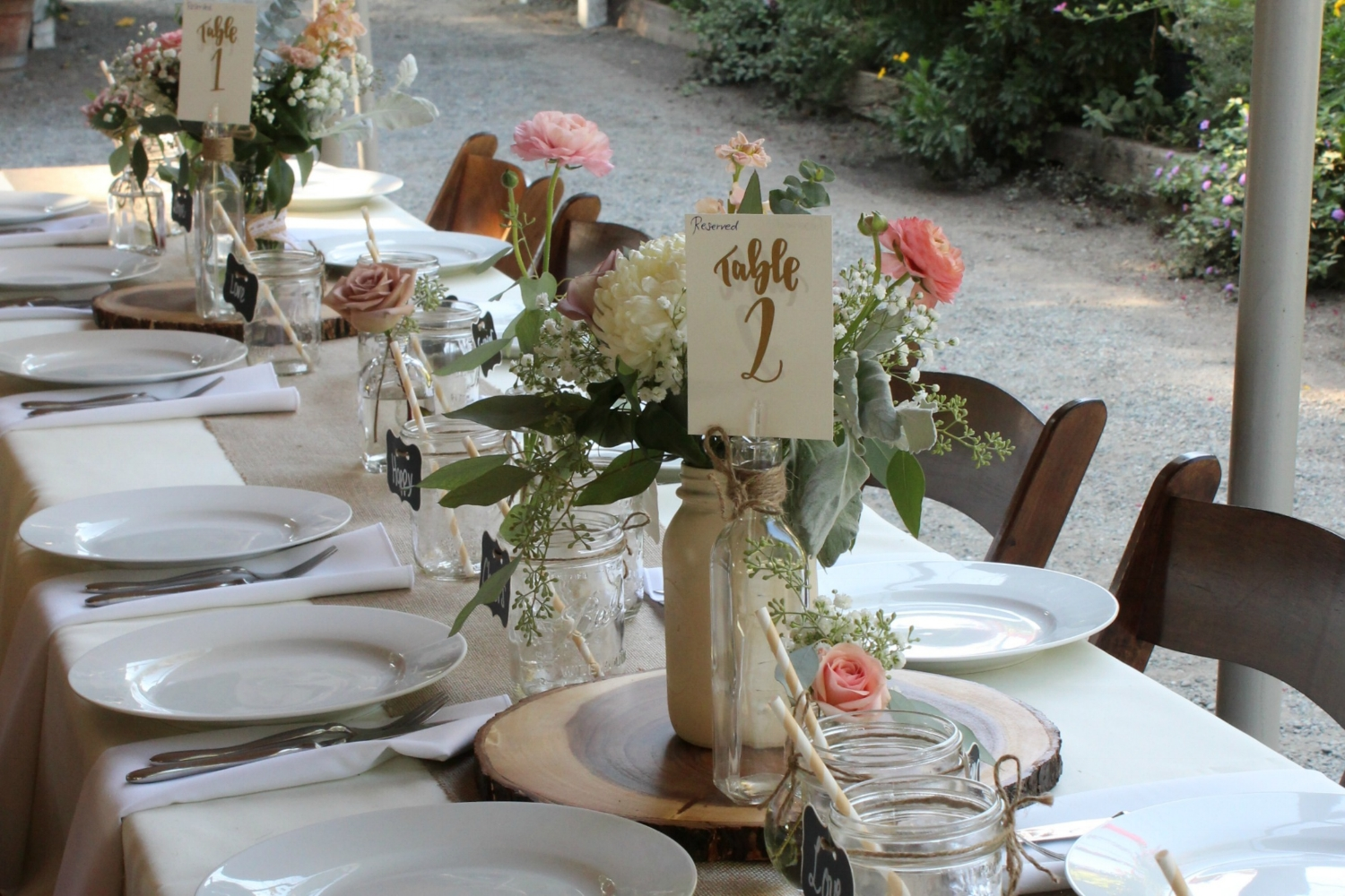 Rustic Vintage Wedding Table Centerpieces