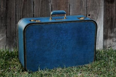 1950's blue suitcase - $15    MORE DETAILS & PICS...