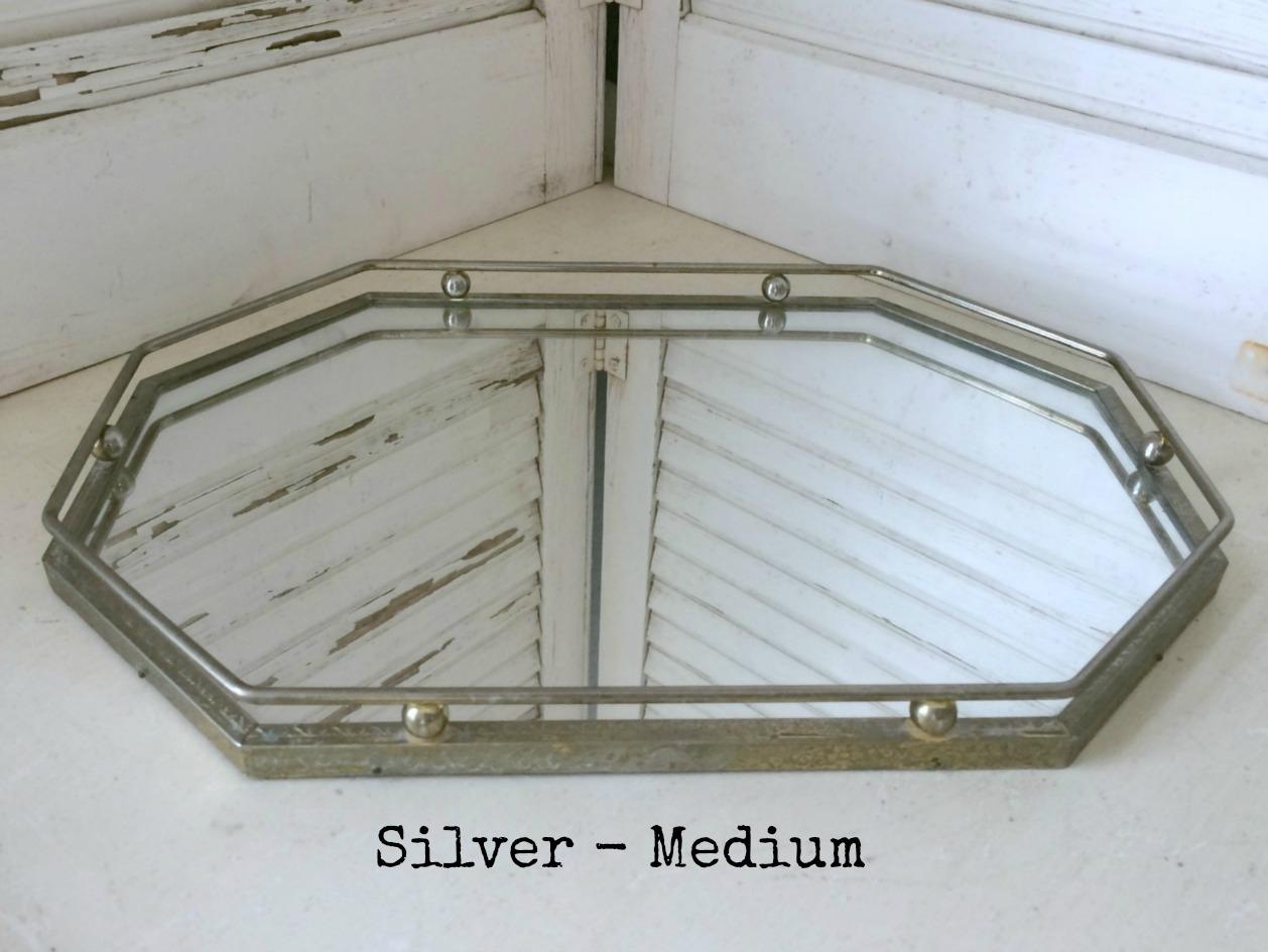 Silver  Vanity Tray - Octagon