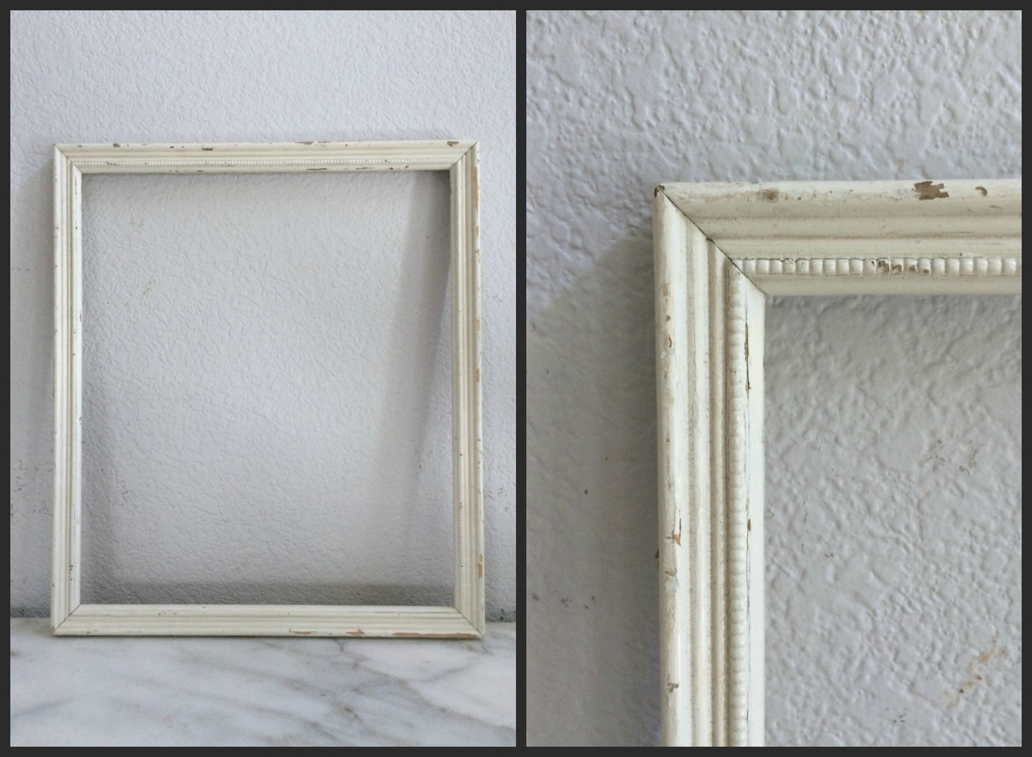 SMALL - IVORY CHIPPY -12 x 14 - $5