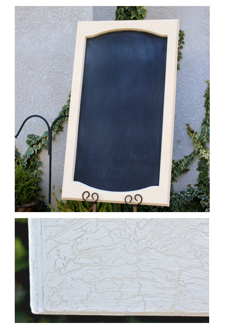 "CUPBOARD DOOR CHALKBOARD - LARGE Blank with craqueleur finish - $20 Size: 24""x 40""    Customizable for additional fee"