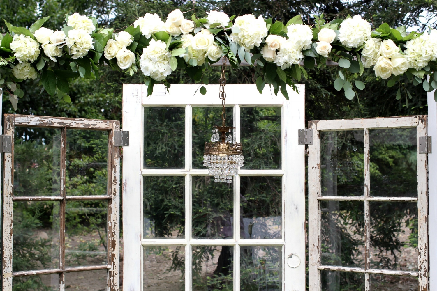 Pageo Farm Wedding - Vintage Door Altar Backdrop