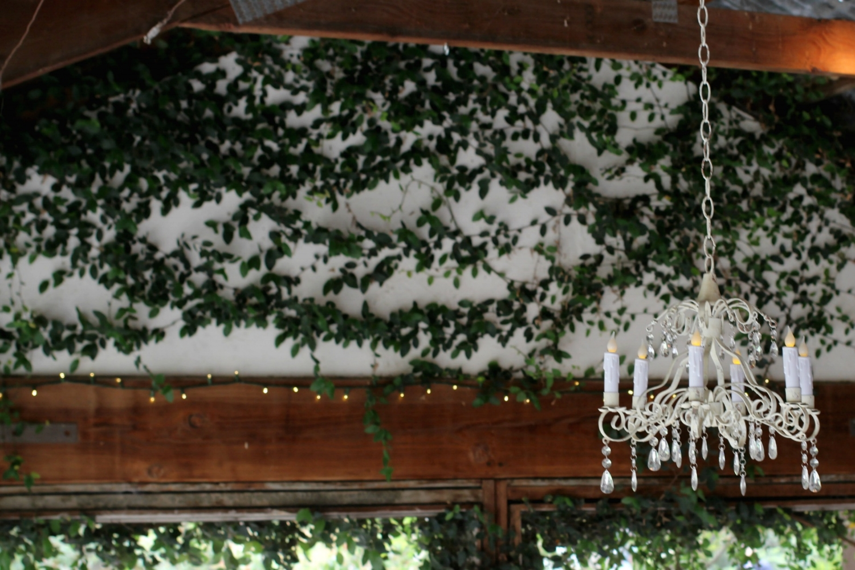 Pageo Farm Wedding - Chandelier