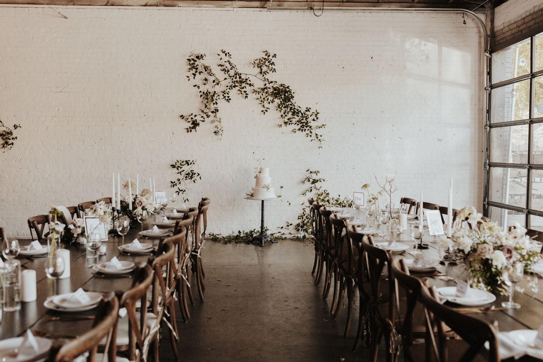 Farm Tables Industrial Vintage Wedding
