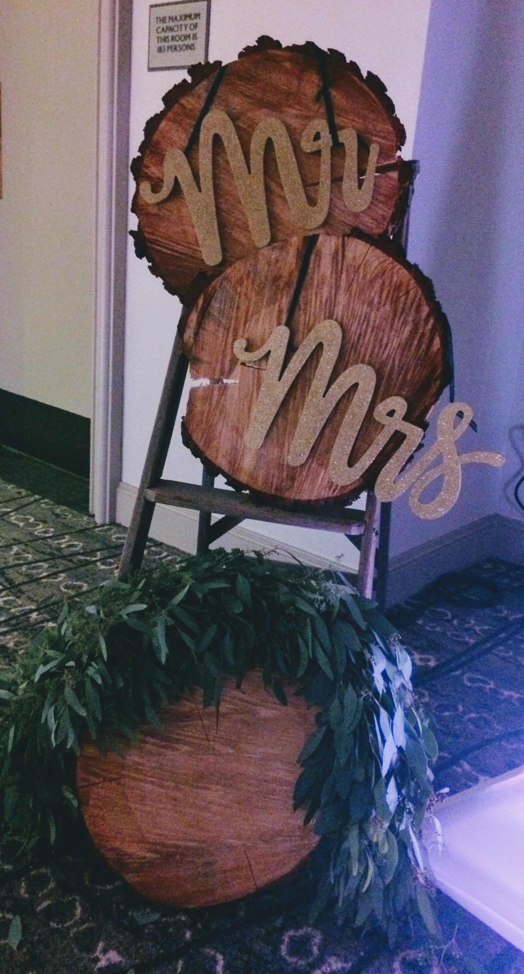 Rustic Wedding Ladder - Mr & Mrs Sign