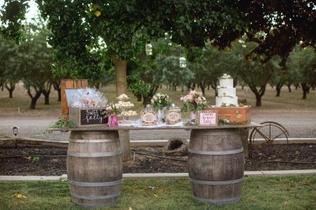 Wine Barrel Table - $125    MORE DETAILS & PICS...