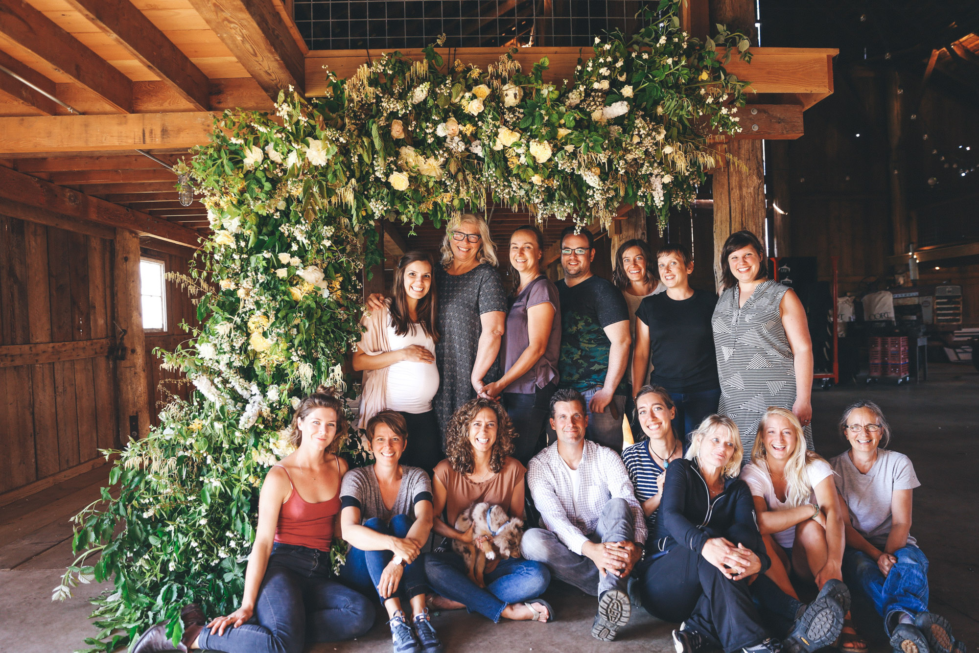 Team Time! - (from left ) Jenn, Nina, Erika, Josh, Becca, Jill, Me, Anne, Brandy, Chris, Erin, Meg, Marlee, Jill <3