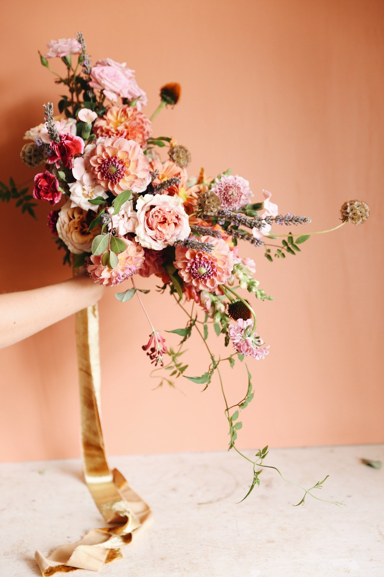 Terracotta & Pink Bridal Bouquet : Oh Flora Studio .JPG