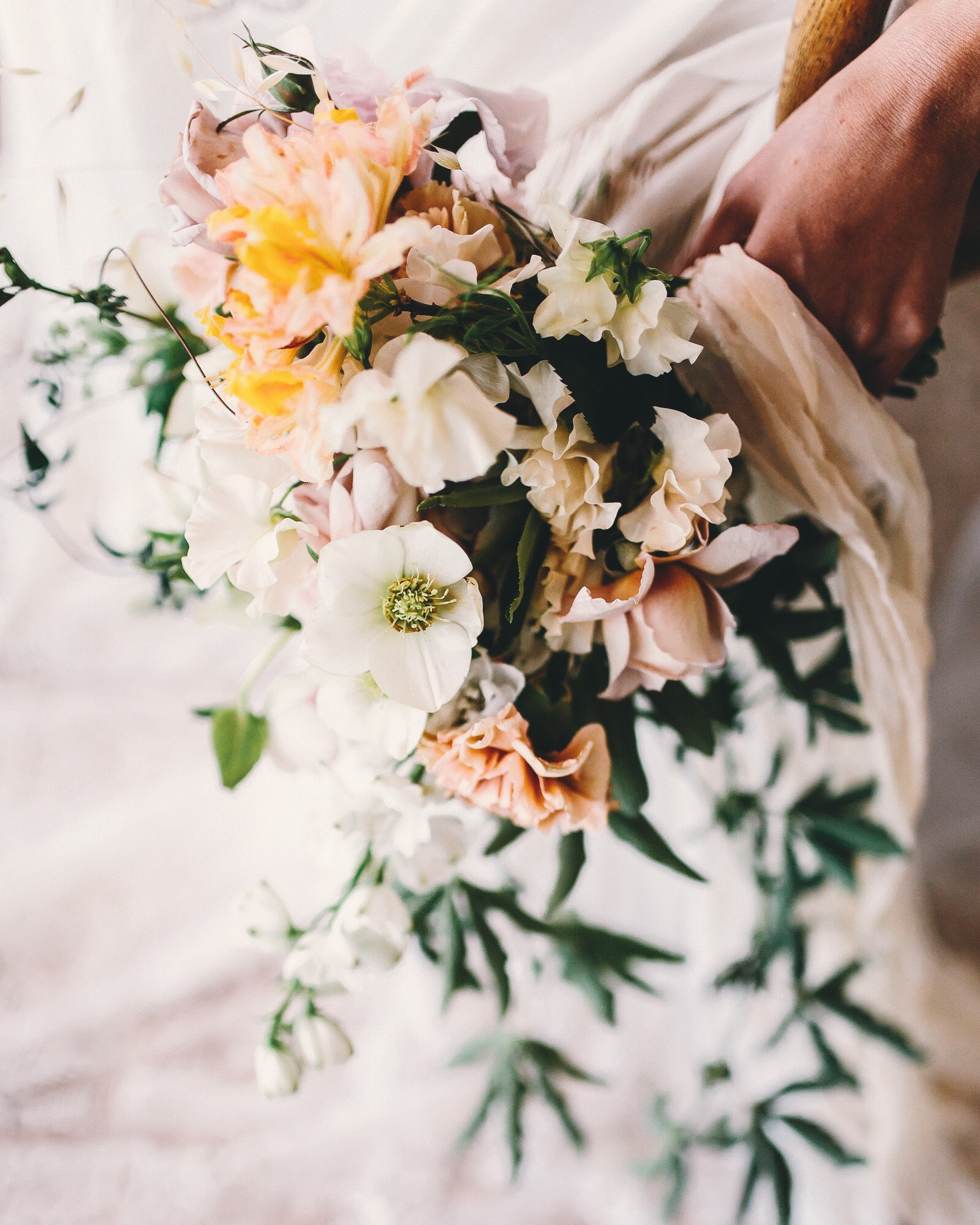 Soft tones and pastel bouquet : Oh Flora, Sydney and destination wedding florist & designer .JPG
