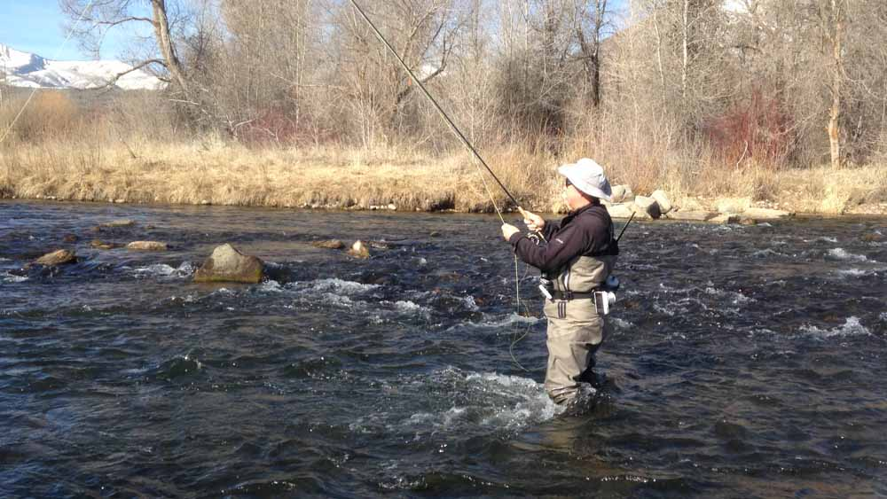 I started out with my Helios 2 and Rio Perception 5wt line.