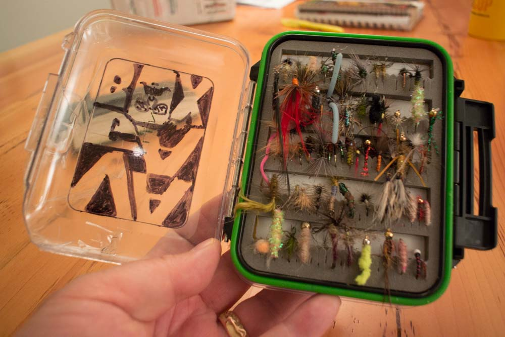 Anterior aspect of Vagabox - full of flies, many I've never fished.