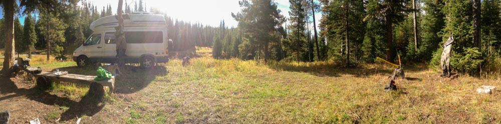 The Vagabox Montana camp