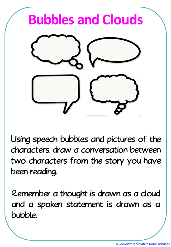 Reading Activities For Any Book — Literacy Ideas