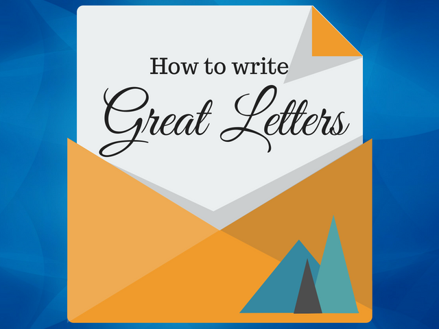 How to write a Great Letter — Literacy Ideas