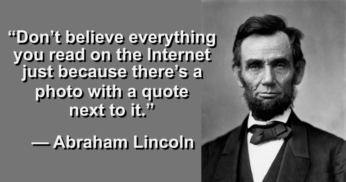 Never a truer word was spoken Abraham…