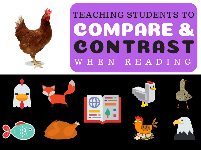 learn to  compare and contrast when reading here