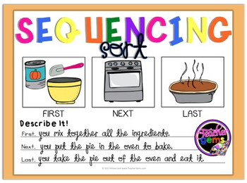 Sequencing Events In Reading And Writing Literacy Ideas