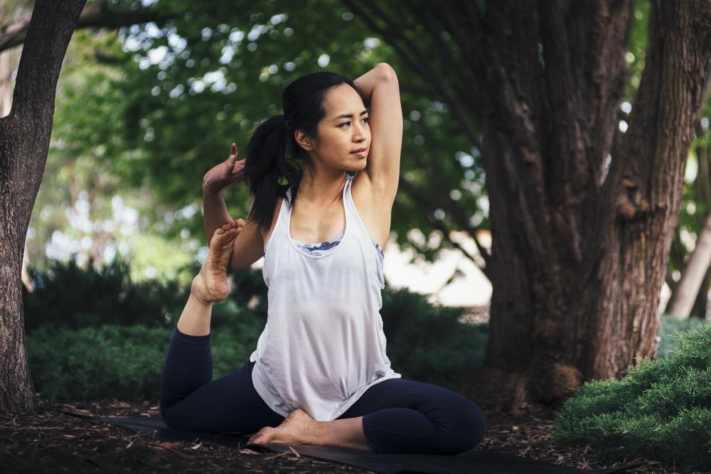 The amazing Yoga teacher Deanne Kong of  Yoga Flex and Massage