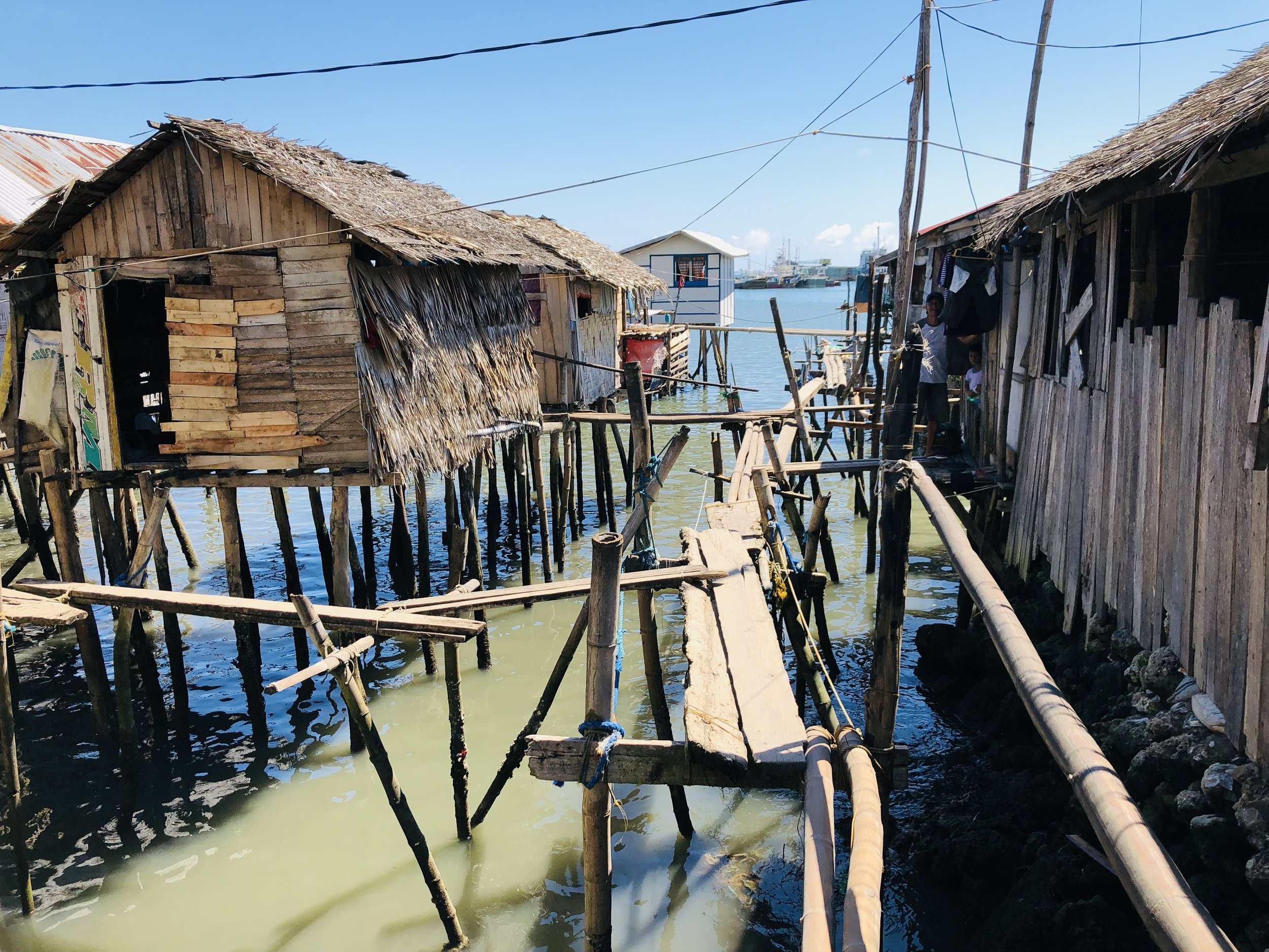 Tribal village in a conflict area in the Philippines.