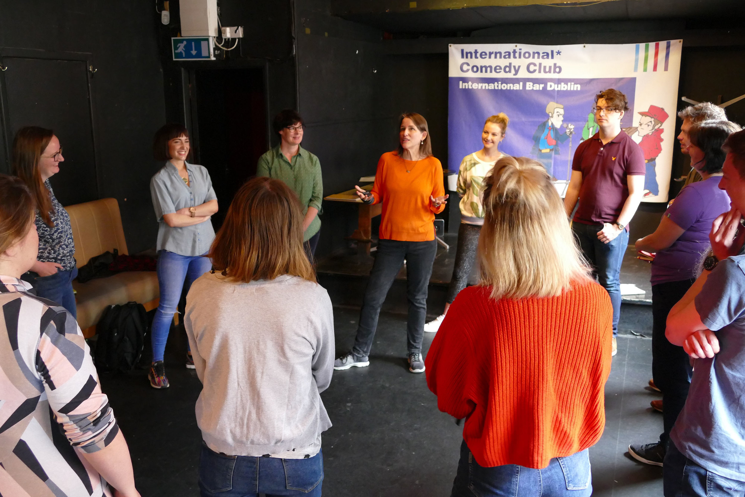 Each workshop begins with introductory exercises and discussion in order to develop warmth among the group and an understanding of the workshop fundamentals.