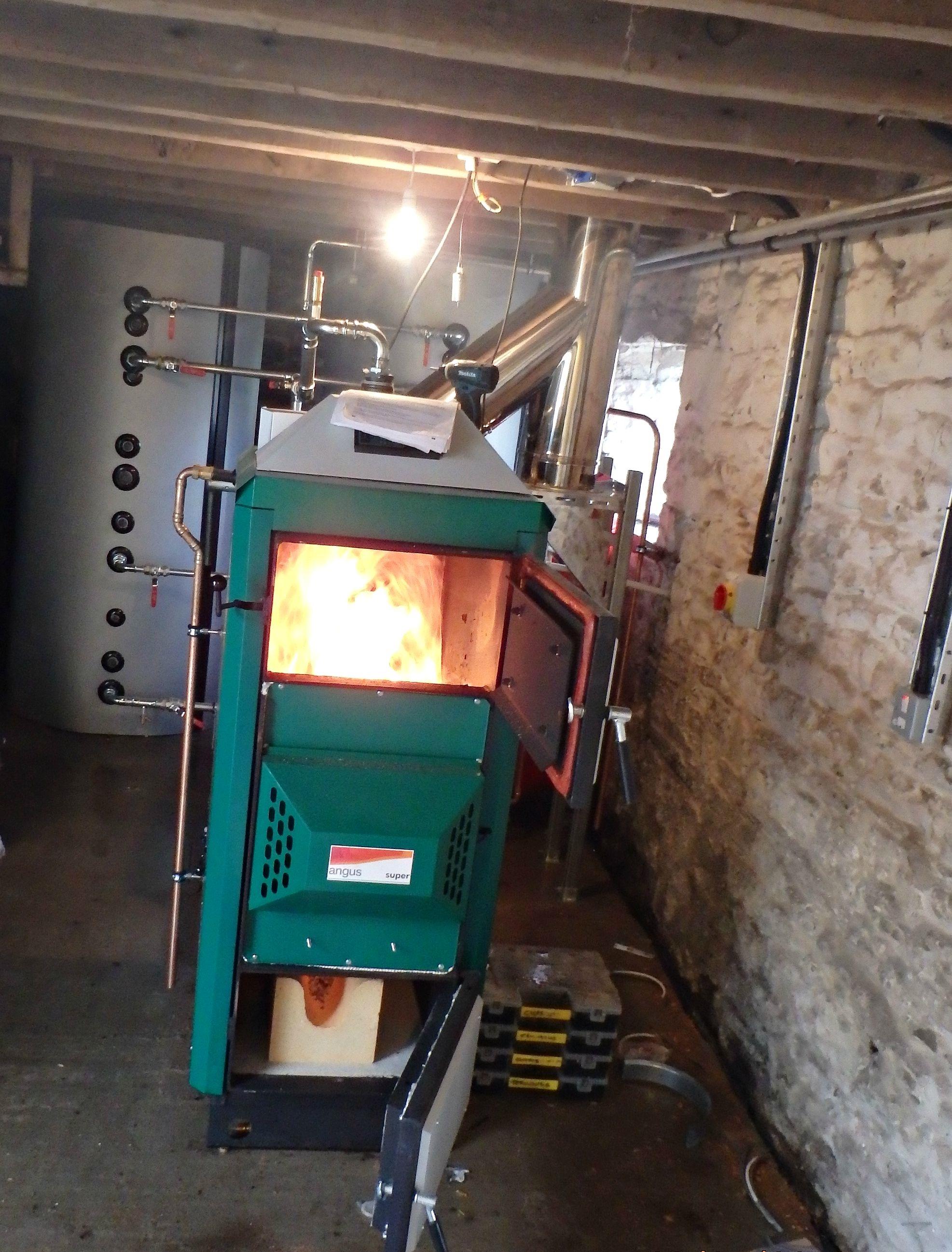 Biomass Log Boiler
