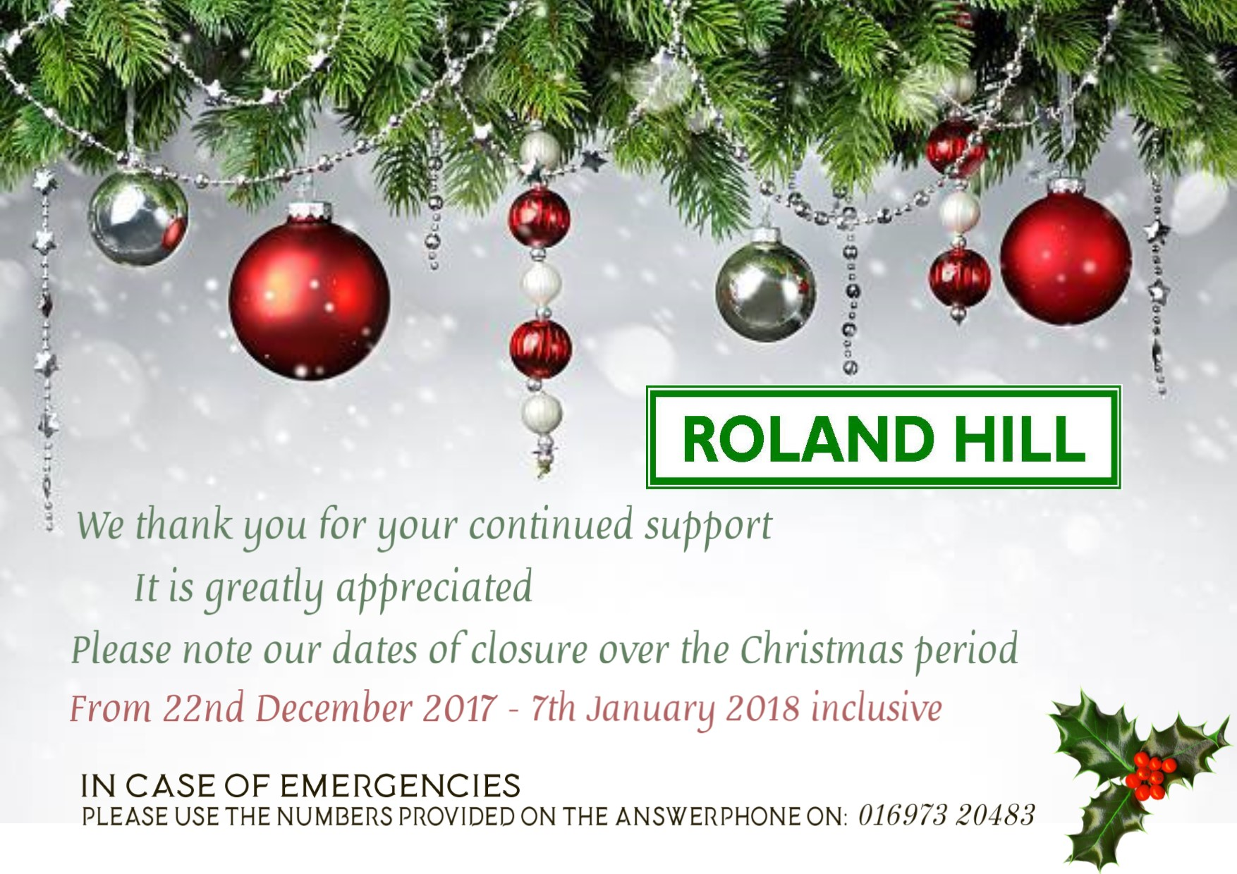 Merry Xmas from all at Roland Hills 2017 to complete.jpg