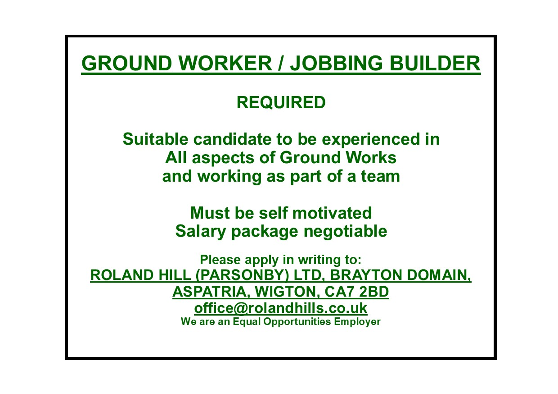 Advert - Ground Worker Jobbing Builder Nov 18.pub.jpg