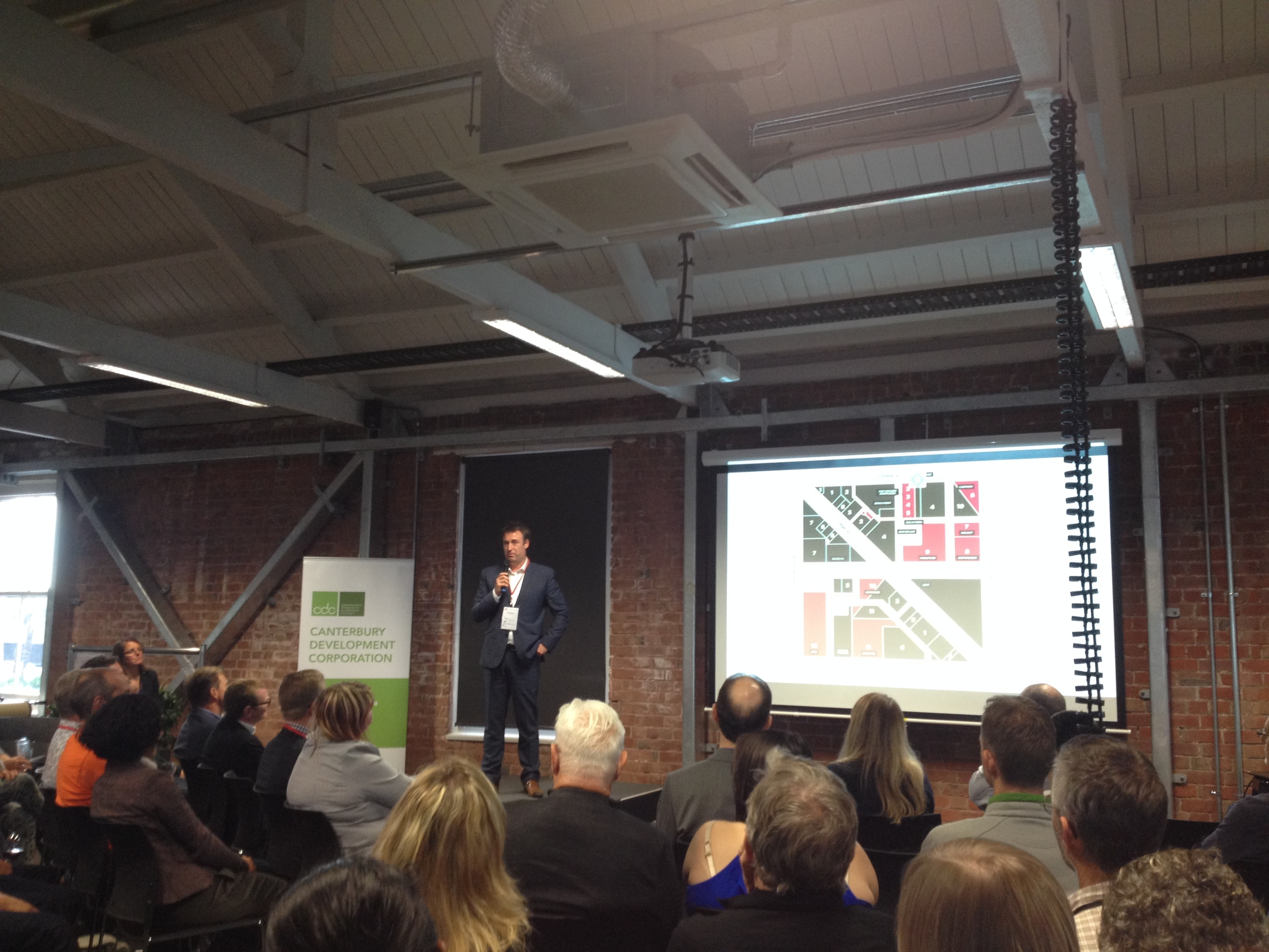 Jamie Cairns, GM of Innovation, CDC talks at the 'Canterbury Software Cluster' last evening in Christchurch photo by Sunstone
