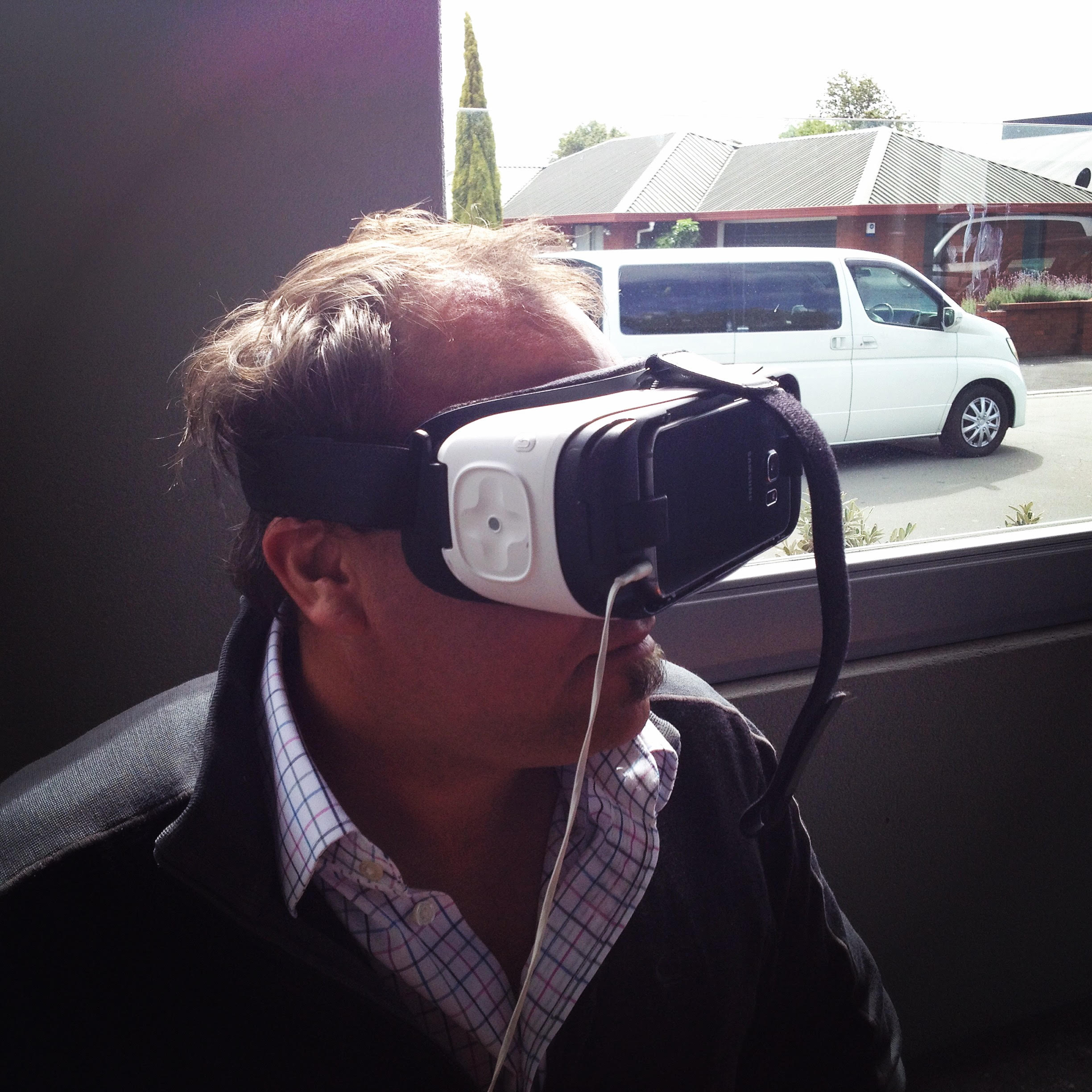 Paul tries out the Occulus VR headset