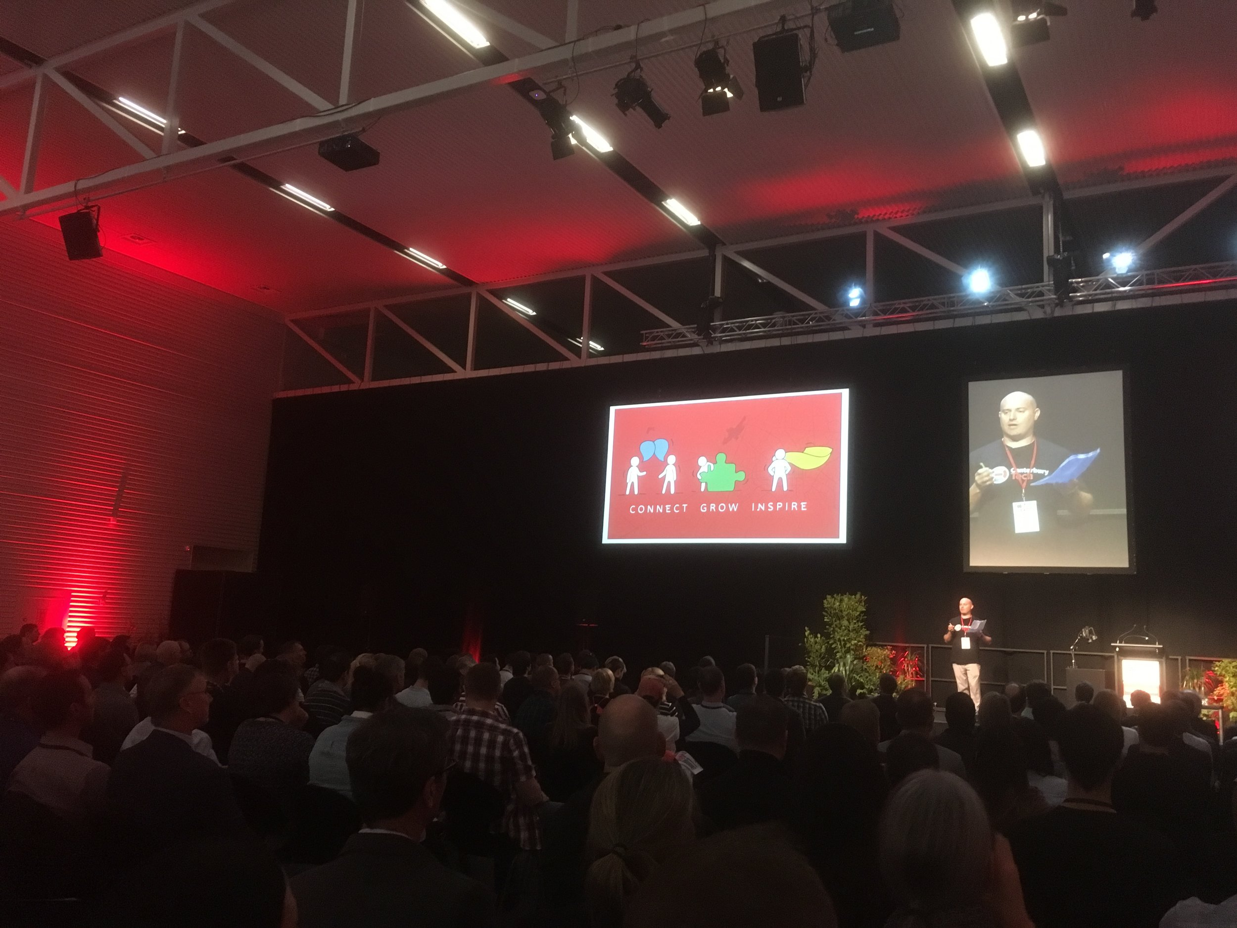 Connect, Grow & Inspire - Michael Trengrove, Chair of Canterbury Tech kicks off presidings photo by sunstone