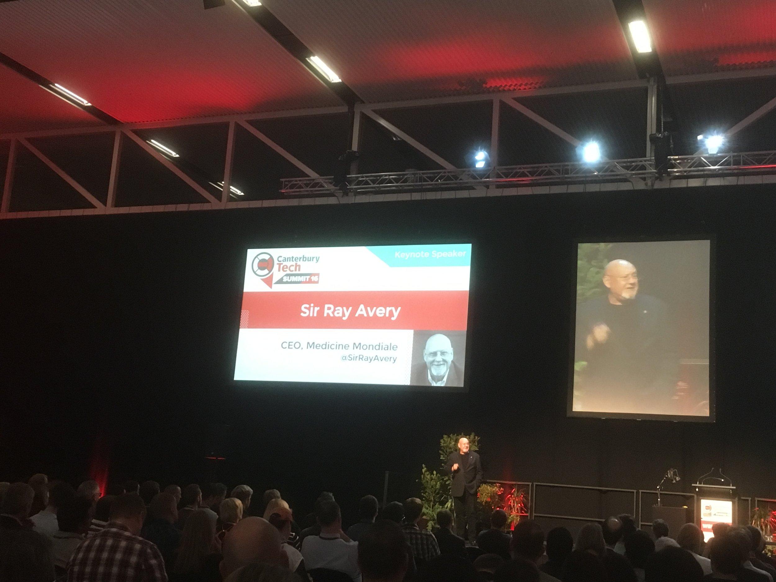 Sir Ray Avery keynote speaker photo by sunstone