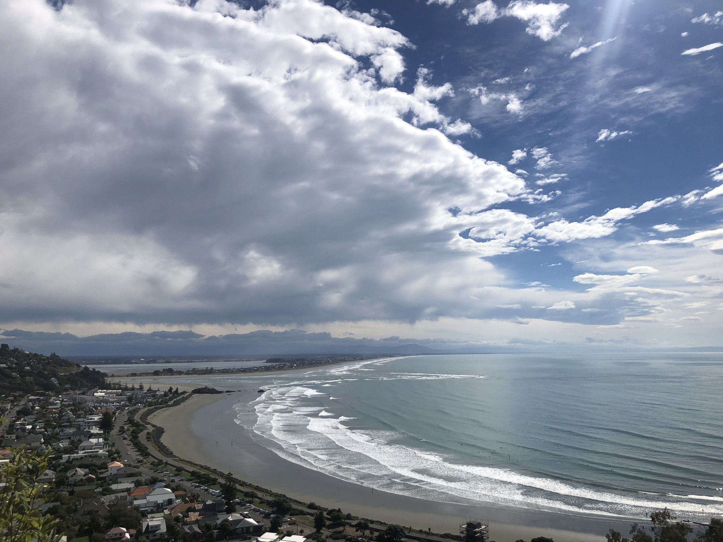 View overlooking Scraborough Beach, Sumner, Christchurch photo by Sunstone