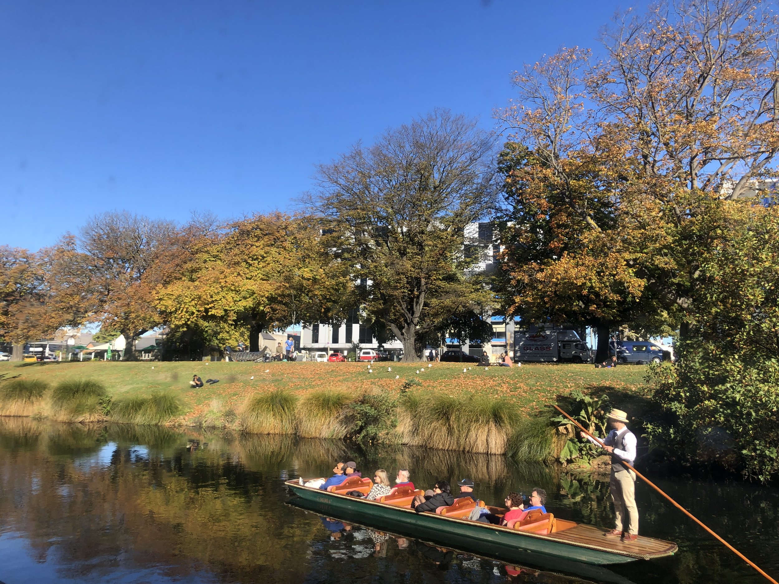 Punting on the river avon in autumn, Christchurch photo by Sunstone