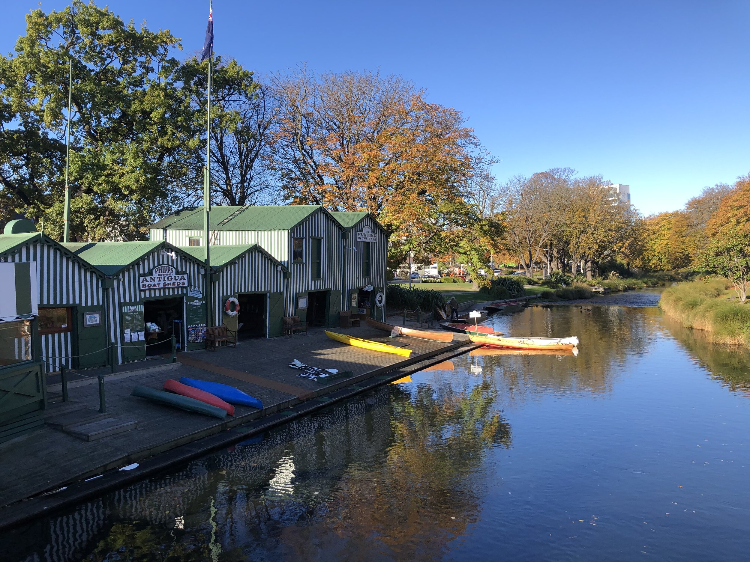 Antigua boat sheds, avon river, Christchurch photo by Sunstone