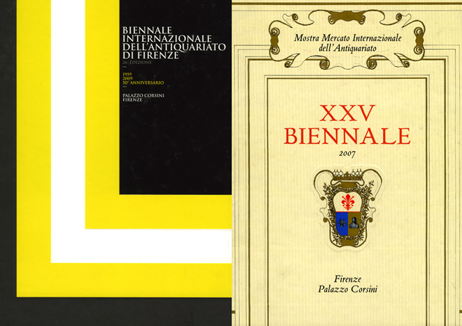 """Florence Bienneal Antique Exhibitions""   Art Catalogue, Allemandi Editions, Turin 2007-2009"