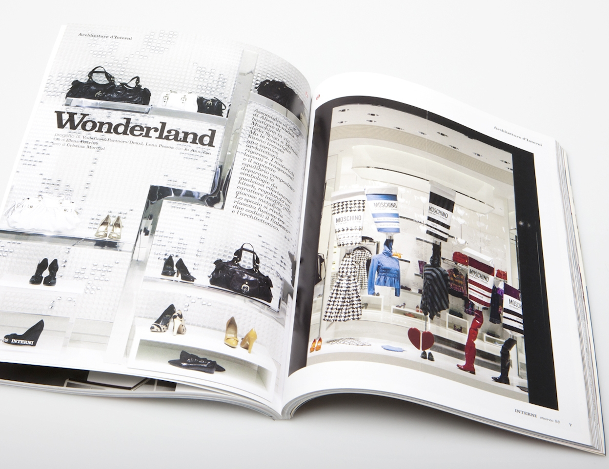 Editorial  Interni Magazine, Mondadori, Milan 2008