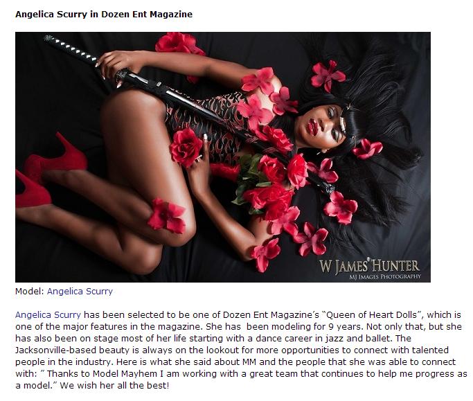 Model: Angelica Scurry  Photographer: James Hunter, Jacksonville, FL