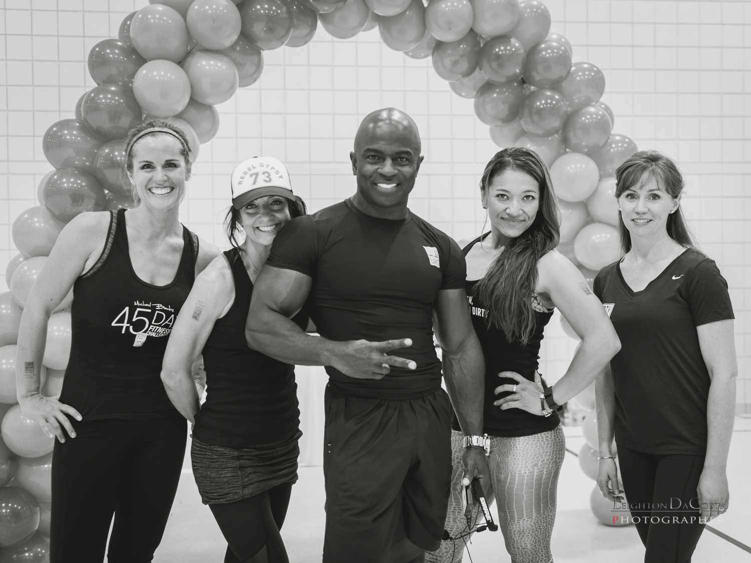 Fitness Innovator, Michael Banks and his Body by Banks crew are all smiles after a great workout