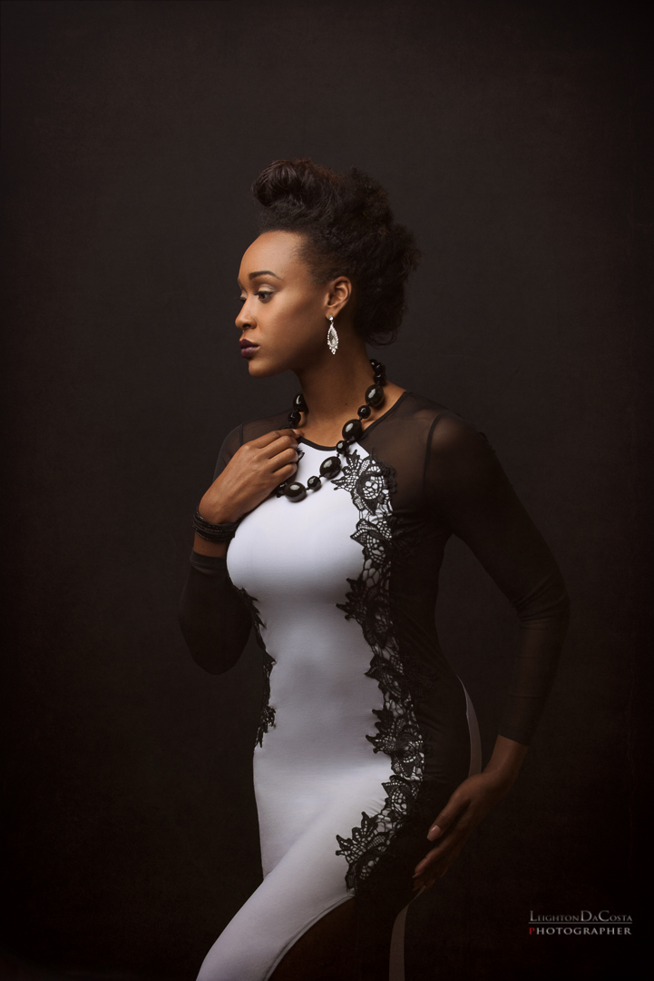 The Beautiful Aquisha Gross (Fayetteville, NC). MUA Brittney Taylor (Fayetteville, NC). Retoucher Dwight Smalls (Jacksonville, FL). Photographer, Leighton DaCosta (Miami, FL/Atlanta, GA) Dress provided by: Kony Fashion Forward (Burlington, NC)