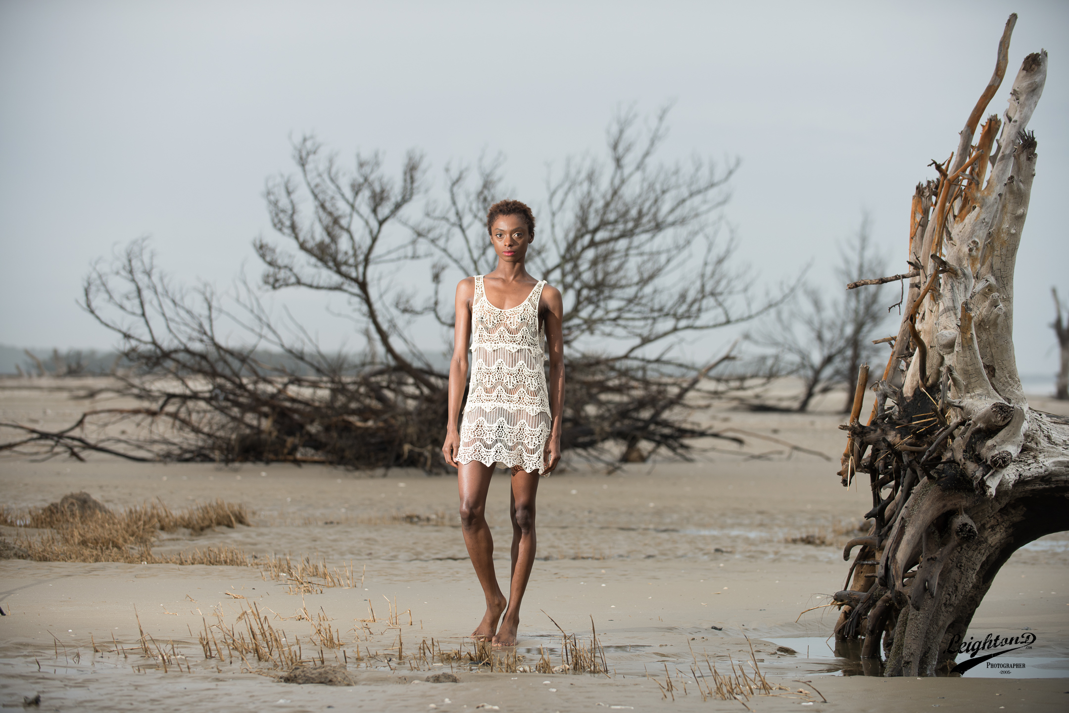 Going during low tide proved to allow for a great photography opportunity.  Shante wearing Lila Nikole