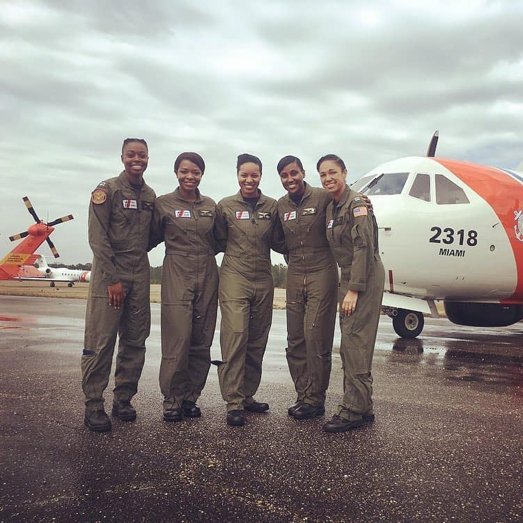 The Fab 5 of the USCG, (L to R): LT C. Lee, LCDR L. Holmes, LCDR J. Menze, LT A. Hughes, LT R. Russell.    Image Courtesy of L. Holmes