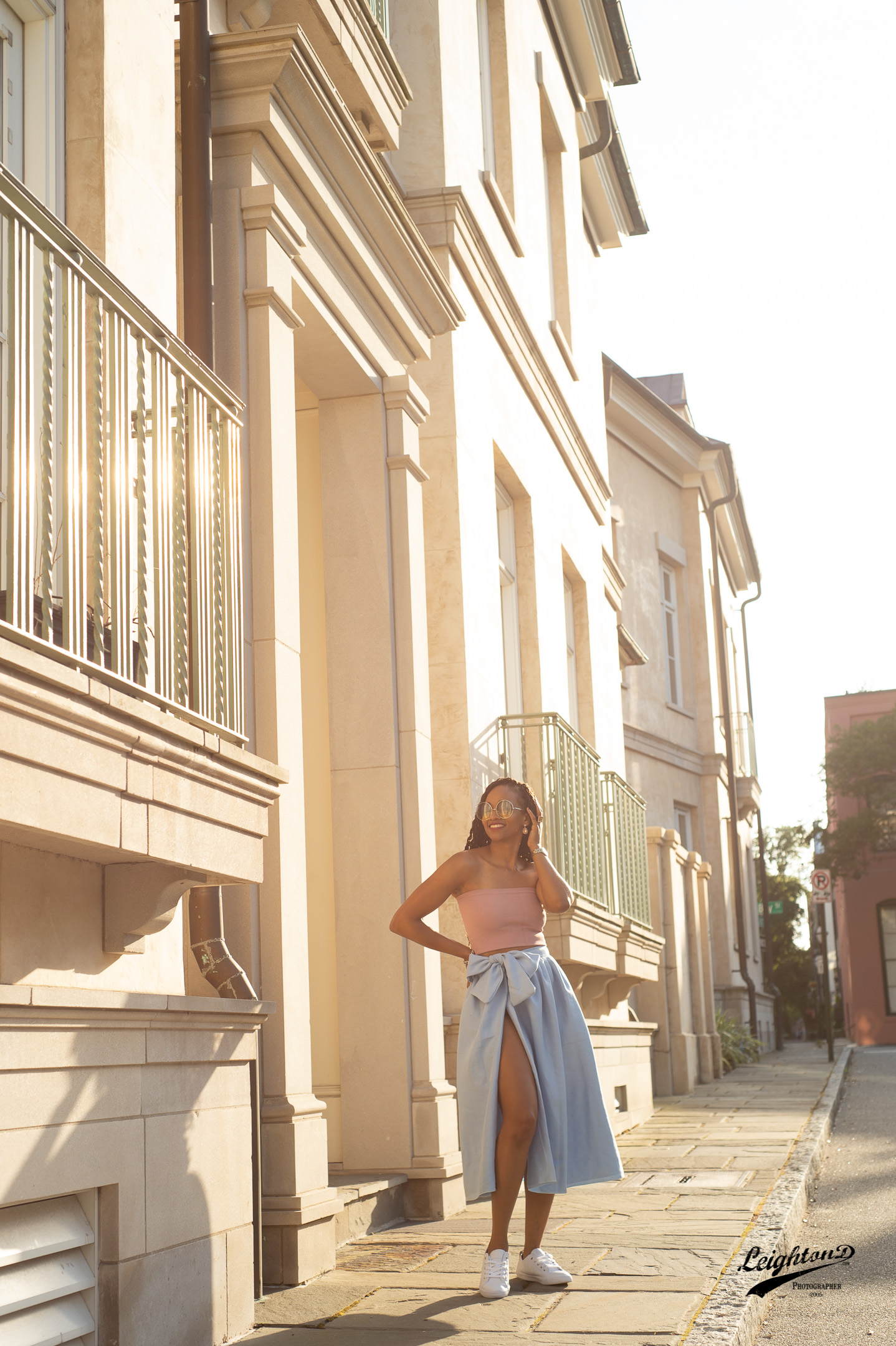 Phee enjoying picturesque downtown Charleston, SC.