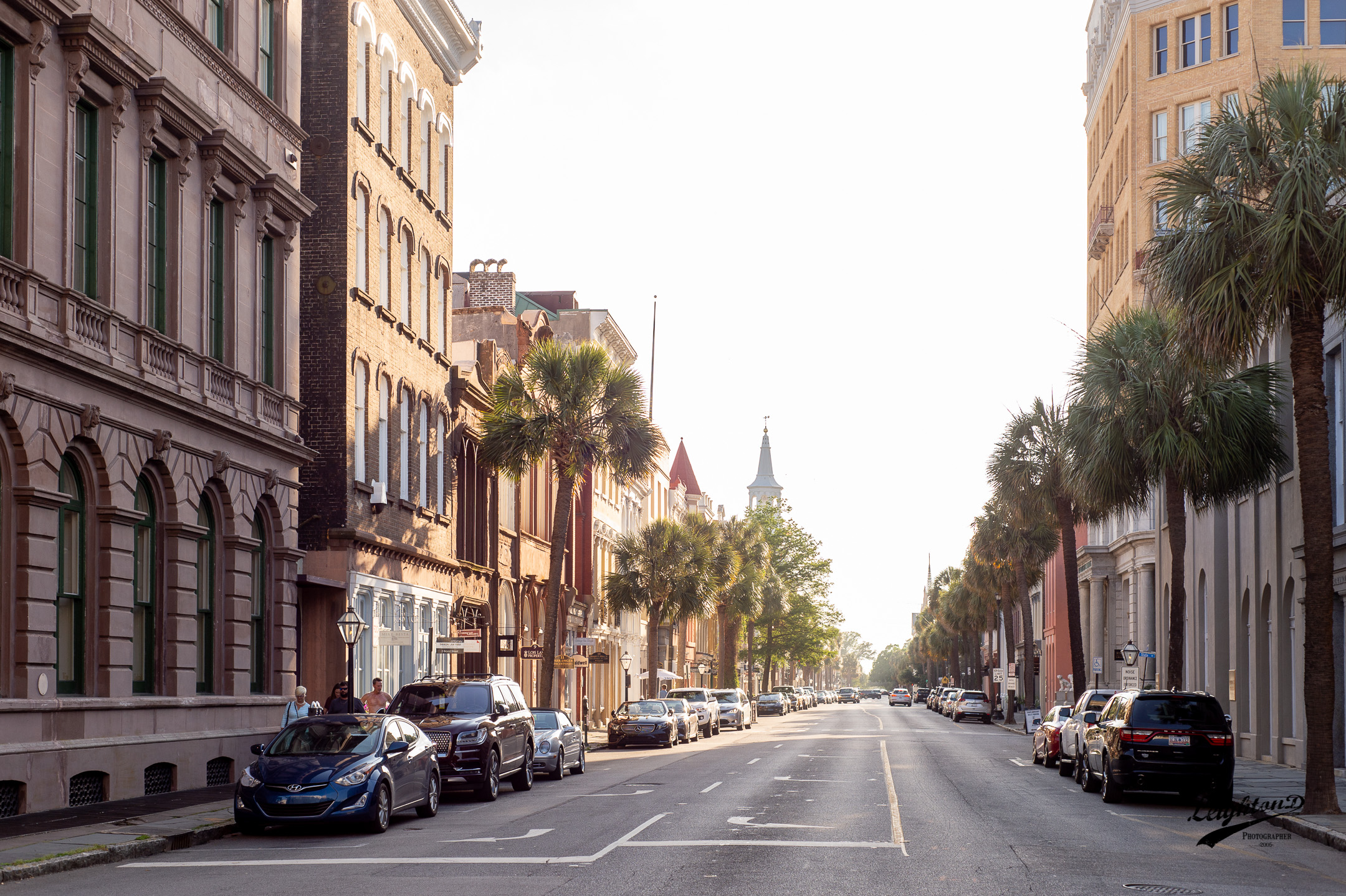 Charleston, SC at the corner of Broad and East Bay street.