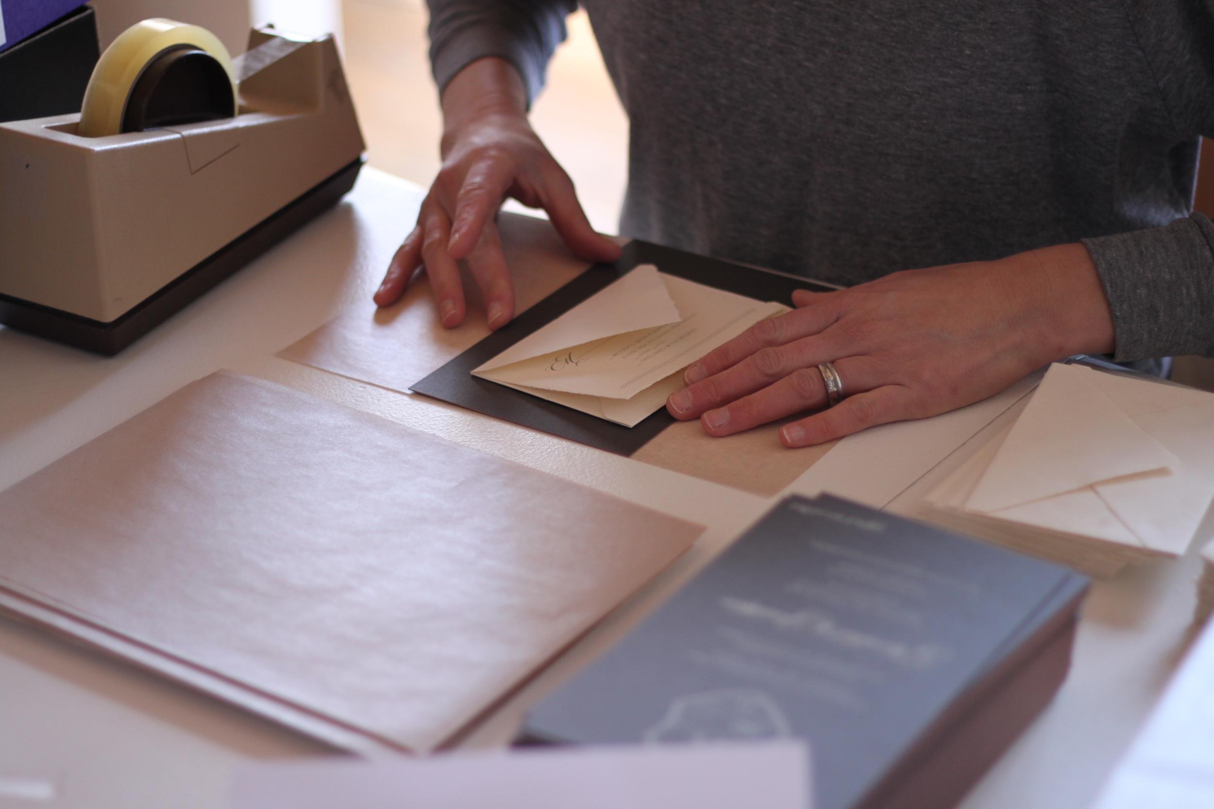 Nimble-Well-Labor-of-Love-Sarah-Drake-Design-folding-wedding-invitation-wrapper