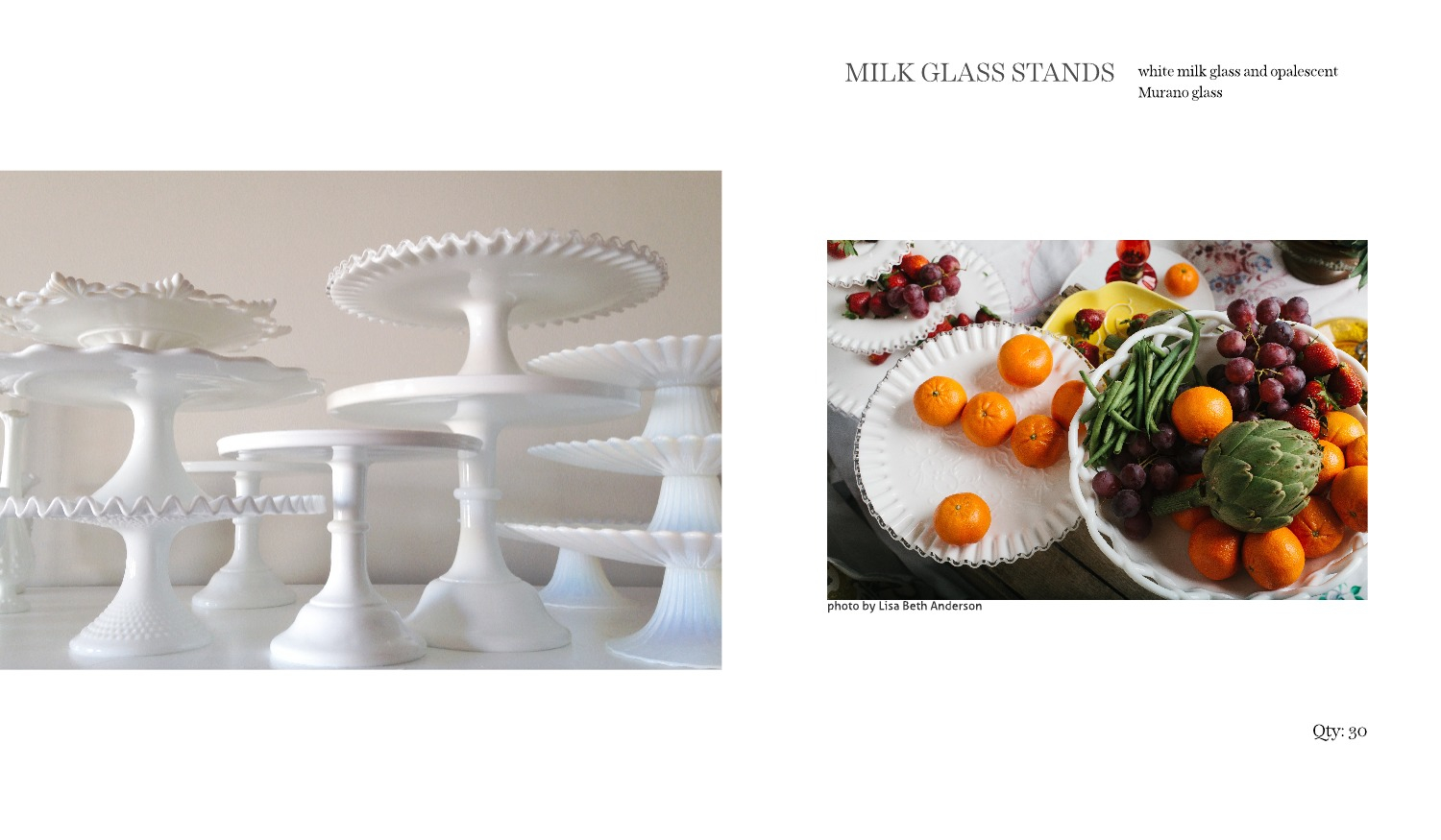 milk glass cake stands