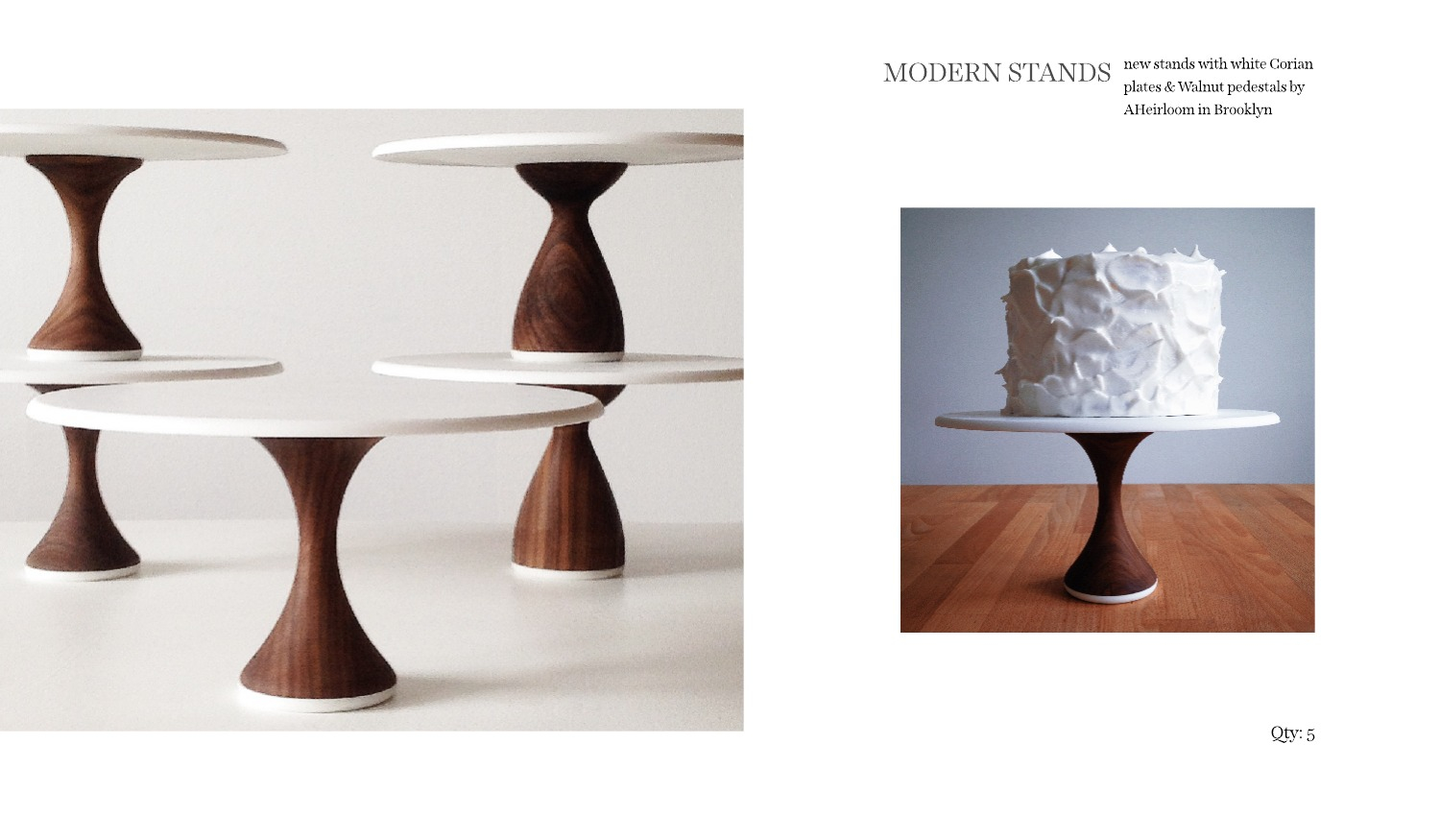 modern cake stands