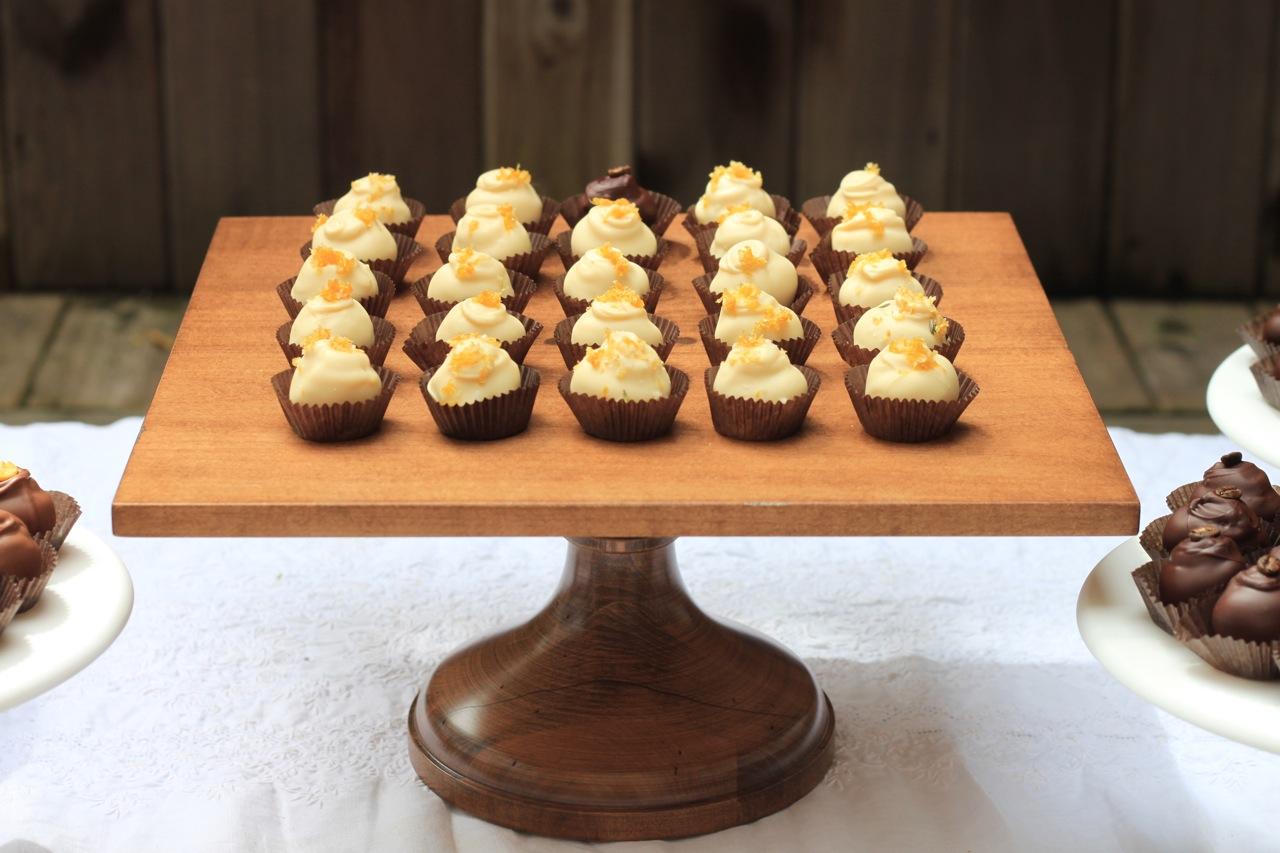 Nimble-Well-square-wood-cake-stand-Katherine-Anne-Confections-chocolate