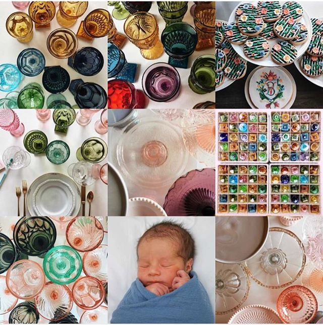 Lots of glassware and baby. Yep, that's 2017! Planning for 2018 and much to look forward to celebrating--new collections, new marriages. And let's work on a new Congress--and new governor, Illinois! #getthatpony